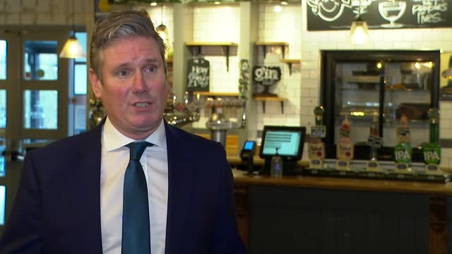 coronavirus keir starmer interview; england: essex: thurrock: int sir keir starmer mp interview sot - here to talk to business owners about the... - innovation stock videos & royalty-free footage