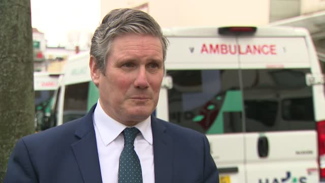 keir starmer interview; england: london: chelsea and westminster hospital: ext sir keir starmer mp interview sot. re. nhs staff reflection had... - endurance stock videos & royalty-free footage