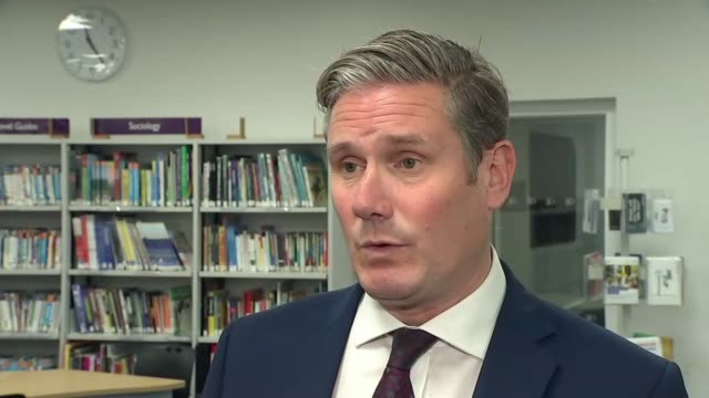 keir starmer interview re a level results controversy england county durham darlington ext sir keir starmer mp interview sot re a level results... - darlington north east england stock videos & royalty-free footage