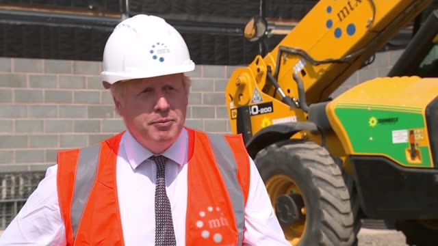 latest statistics reveal biggest drop in employment since financial crash a decade ago; england: herefordshire: int boris johnson mp spray plastering... - herefordshire stock videos & royalty-free footage