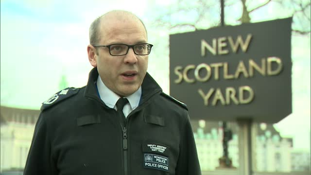 leaders of met police tighten lockdown grip on capital; england: london: ext deputy assistant commissioner matt twist interview excerpt sot - at the... - itv london lunchtime news stock videos & royalty-free footage