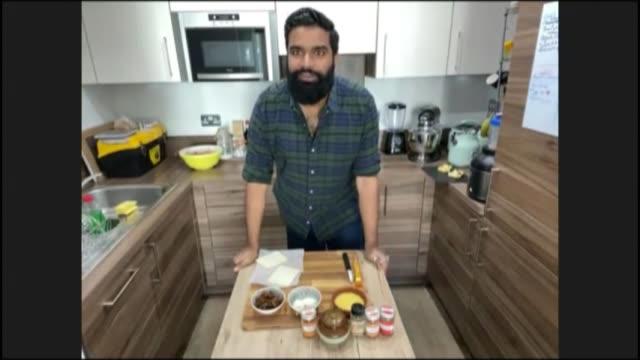 'lockdown bake club' leads increase in home baking during coronavirus lockdown; england: int antony amourdoux 2 way interview via internet sot - baking stock videos & royalty-free footage