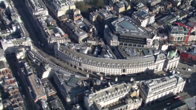 london aerials during lockdown; england: london: ext ** filmed during coronavirus shutdown ** air views / aerials quiet west end including piccadilly... - paddington railway station stock videos & royalty-free footage