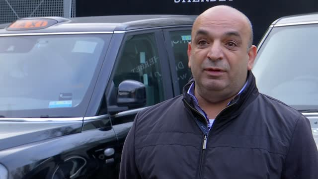 london black cab drivers out of work during lockdown; england: london: steve mcnamara interview sot dalston: int taxis abandoned in dalston yard shed... - windscreen stock videos & royalty-free footage