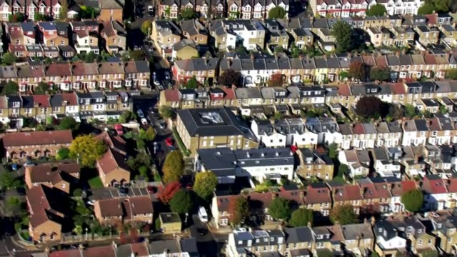 london, essex and york among areas to move up to 'high alert' tier 2 restrictions; england: london: south west london: ext air views various shots of... - skyline stock videos & royalty-free footage