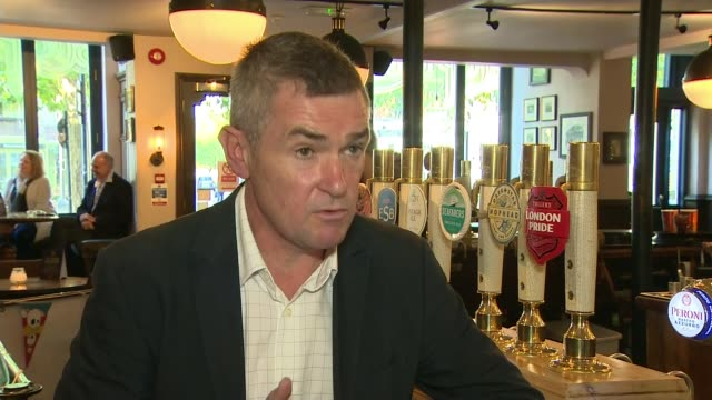 london essex and york among areas to move up to 'high alert' tier 2 restrictions england london fuller's pub int close shot of fuller's branded glass... - itv evening news stock videos & royalty-free footage