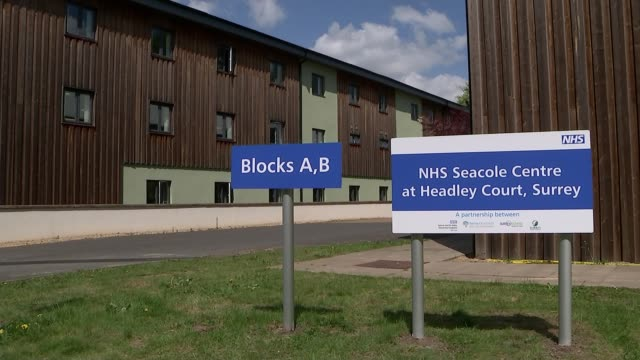 london nhs nightingale hospital placed on standby as focus switches to rehabilitation england surrey nhs seacole centre at headley court int plaque... - launch event stock videos & royalty-free footage