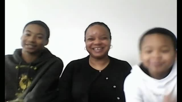 londoners discuss their experiences of home schooling; england: london: int 2 way interview with mother nadine and her two young sons shawn and shane... - parent stock videos & royalty-free footage