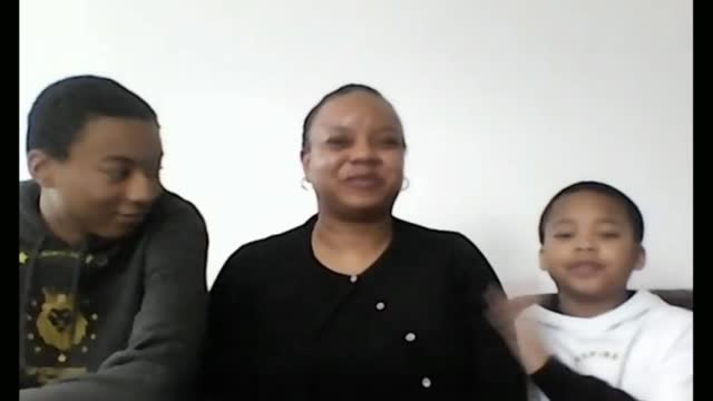 londoners discuss their experiences of home schooling; england: london: int split screen four families during separate 2 way interviews via internet... - parent stock videos & royalty-free footage