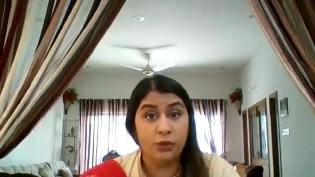 londoners stuck abroad concerned about return; pakistan: int fauzia siddiqui interview via internet sot / split screen with reporter at home in... - worried stock videos & royalty-free footage