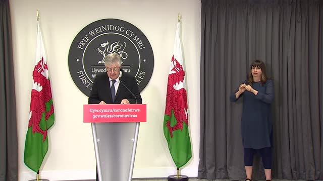 mark drakeford press conference opening statement, 18th june 2021; wales: cardiff: int mark drakeford opening statement sot - since february every... - 18 23 months stock videos & royalty-free footage