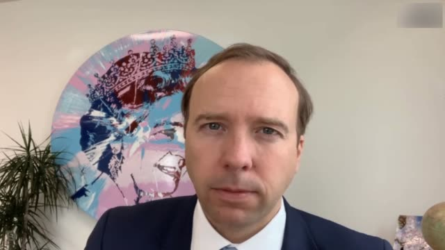 matt hancock interview; england: london: int matt hancock mp interview sot part 1 of 2. new covid-19 drug that nhs will be able to administer...... - death stock videos & royalty-free footage