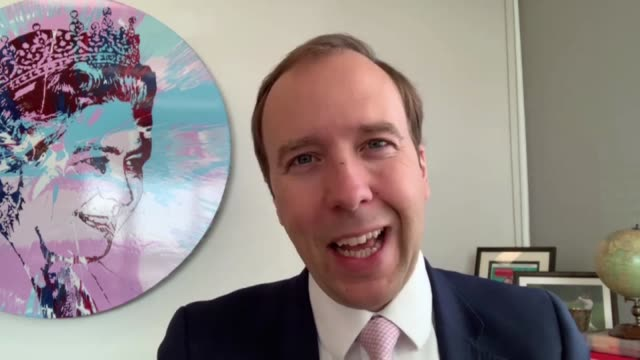 matt hancock interview; england: london: westminster: int matt hancock mp interview via internet sot part 1 of 3. - on track and trace system,... - contact tracing stock videos & royalty-free footage