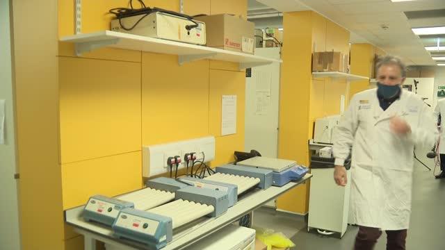 matt hancock visits glasgow university research laboratory; scotland: glasgow: glasgow university: ext matt hancock mp , wearing face mask, arriving... - epidemiology stock videos & royalty-free footage