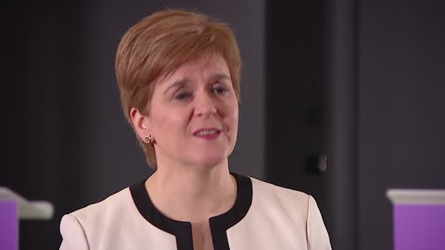 measures over christmas: nicola sturgeon interview; scotland: edinburgh: st andrew's house: int nicola sturgeon msp interview sot q: what are the... - hygiene stock videos & royalty-free footage