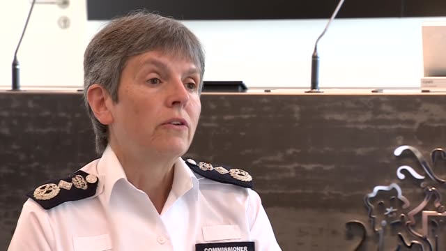 metropolitan police commissioner interview re illegal parties england london int dame cressida dick interview continued sot re policing large parties... - cressida dick stock videos & royalty-free footage