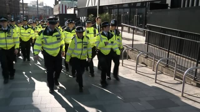 metropolitan police looking at how police force will manage with smaller workforce in light of the epidemic england london croydon ext general views... - cressida dick stock videos & royalty-free footage