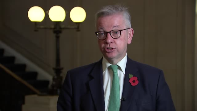 michael gove interview; england: london: westminster: int michael gove mp interview sot. about why they delayed to implement the lockdown - - as the... - perfection stock videos & royalty-free footage