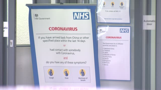 millions in northern italy placed in lockdown england ext coronavirus information sign behind autonomic doors in hospital emergency department... - human nervous system stock videos & royalty-free footage