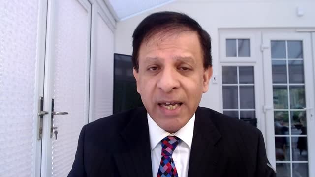ministers defend 12-week gap in vaccine doses; england: int dr chaand nagpaul interview via internet sot - politics stock videos & royalty-free footage