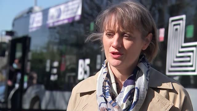 """mobile vaccine centre in luton; england: london: luton: ext lucy hubber interview sot . - """"open access vaccination for anybody who's eligible, don't... - uncertainty stock videos & royalty-free footage"""