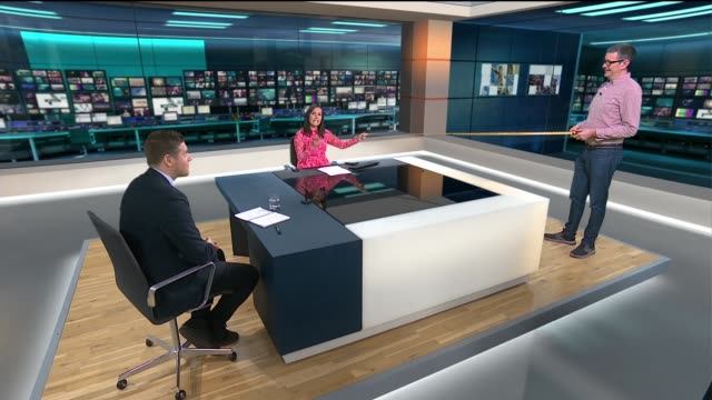 more action will be taken if people ignore stay home message; england: london: gir: int live studio discussion between itv news presenter nina... - report stock videos & royalty-free footage