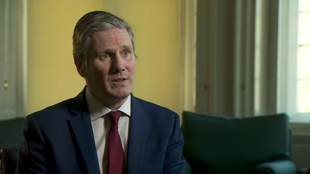mps agree plans for virtual parliament during lockdown england london westminster int sir keir starmer mp interview sot [re sitting of commons during... - scrutiny stock videos & royalty-free footage