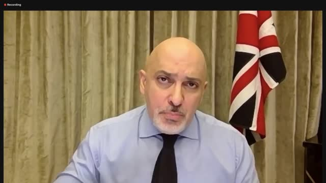 nadhim zahawi interview; england: london : int nadhim zahawi mp interview via internet sot. about how it is possible not to have contact details - -... - correspondence stock videos & royalty-free footage