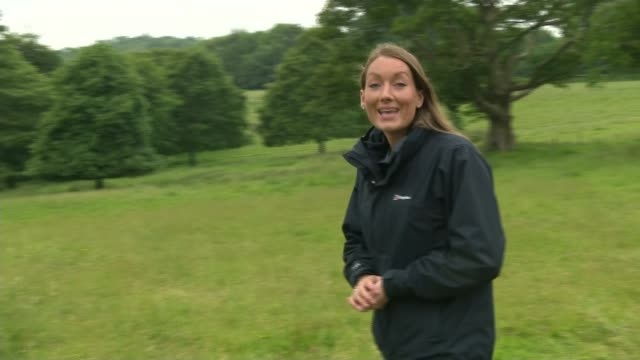 national trust begins phased reopening of gardens and parks; england: cornwall: trelissick: ext reporter to camera sot / gareth lay interview sot... - national trust video stock e b–roll