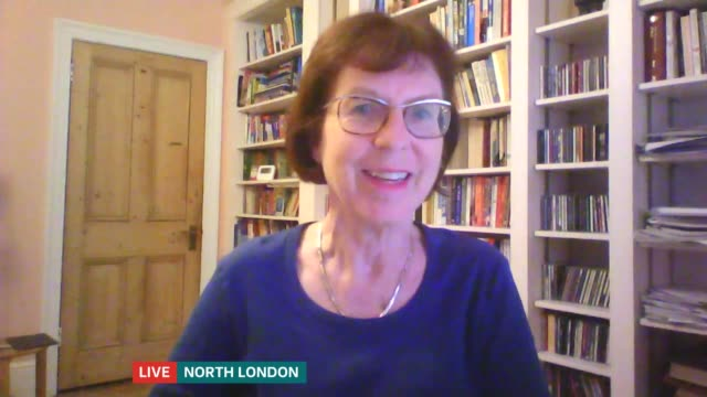 new contact tracing app launches; england: london: gir / north london: int professor susan michie live 2-way interview via internet sot. - itv london tonight stock-videos und b-roll-filmmaterial