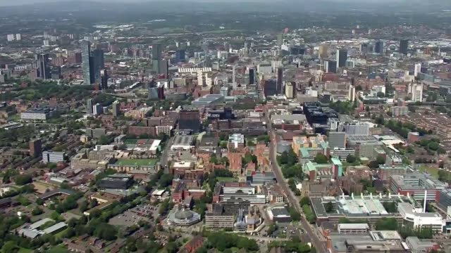 new lockdown restrictions imposed on northern england england greater manchester view / aerial central manchester - itv news at ten stock videos & royalty-free footage
