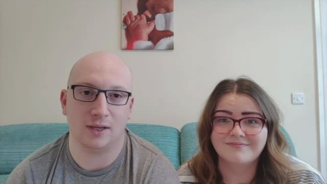 new parents forced to stay away from babies in intensive care england bobby dean interview via the internet sot claire omara setup shots with... - itv news at ten stock-videos und b-roll-filmmaterial