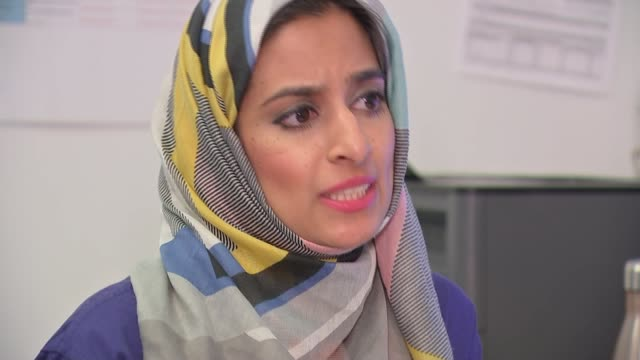 stockvideo's en b-roll-footage met new report recommends risk assessments for bame workers england int dr hina shahid speaking sot two shot with reporter close shot public health... - new not politics