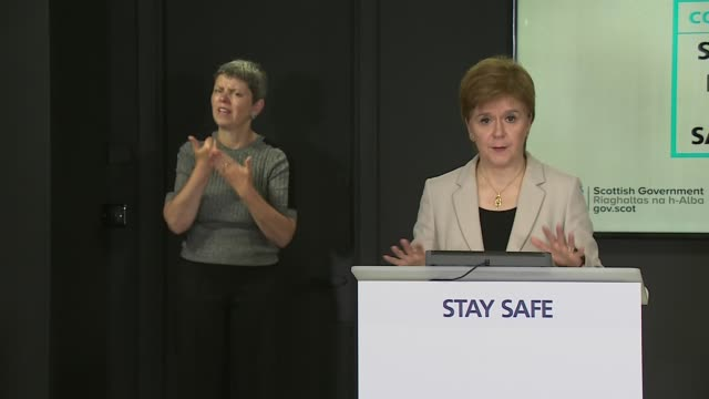 nicola sturgeon daily briefing 6th august scotland edinburgh st andrew's house int nicola sturgeon msp press conference sot a further 30 cases are... - {{ collectponotification.cta }} stock videos & royalty-free footage