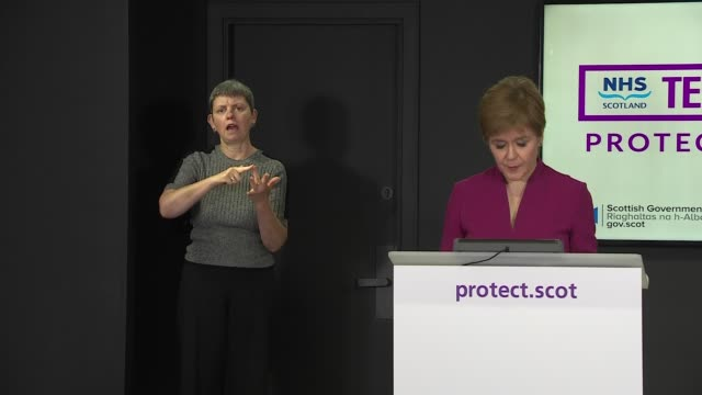 nicola sturgeon daily press briefing september 18th scotland edinburgh st andrew's house int nicola sturgeon msp statement sot i can report that the... - distorted stock videos & royalty-free footage