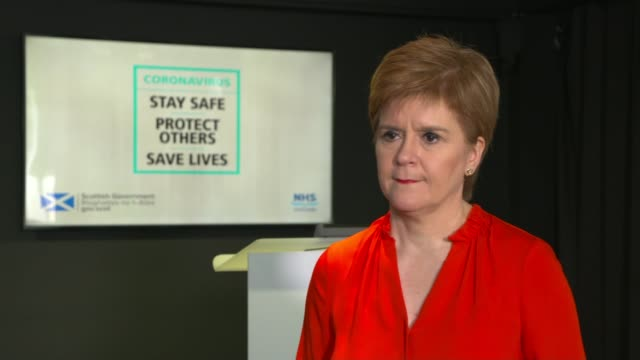 nicola sturgeon interview; scotland: edinburgh: int nicola sturgeon msp interview sot. - i want to try avoid local lockdowns the more we can minimise... - day stock videos & royalty-free footage