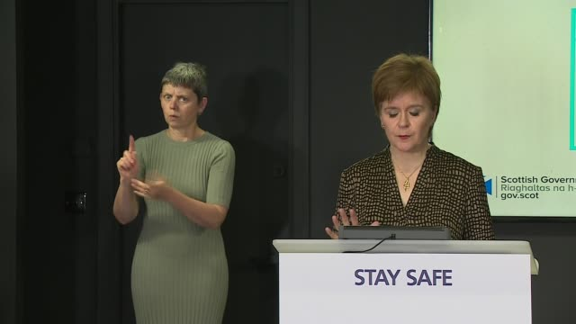 nicola sturgeon press briefing 7th august scotland edinburgh st andrew's house int nicola sturgeon msp statement sot the scottish government will... - game of chance stock videos & royalty-free footage