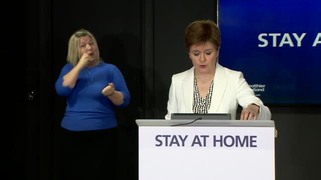 nicola sturgeon press briefing may 18th; scotland: edinburgh: nicola sturgeon press conference sot . - the second issue i want to discuss today is... - perthshire stock videos & royalty-free footage