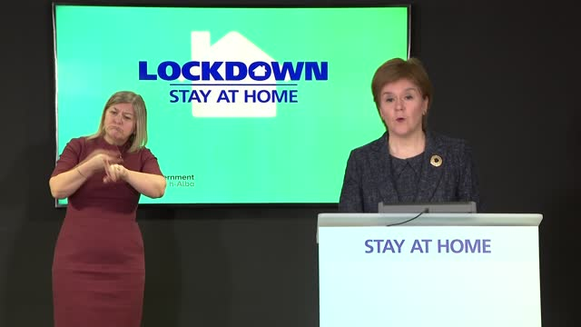 stockvideo's en b-roll-footage met nicola sturgeon press conference 15th march 2021; scotland: edinburgh: st andrew's house: int nicola sturgeon msp press conference opening statement... - 40 seconds or greater
