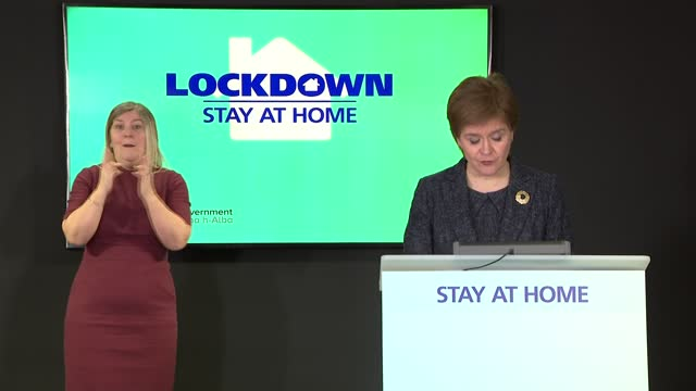 nicola sturgeon press conference 15th march 2021; scotland: edinburgh: st andrew's house: int nicola sturgeon msp press conference opening statement... - 50 seconds or greater stock-videos und b-roll-filmmaterial