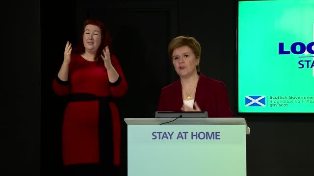 nicola sturgeon press conference 5th january 2021; scotland: edinburgh: st andrew's house: int nicola sturgeon msp opening statement sot part 3 of 3.... - nicola sturgeon stock videos & royalty-free footage