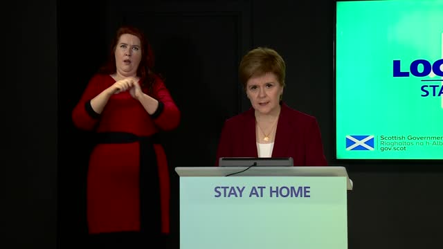 nicola sturgeon press conference 5th january 2021; scotland: edinburgh: st andrew's house: int nicola sturgeon msp opening statement sot part 1 of 3.... - new stock videos & royalty-free footage