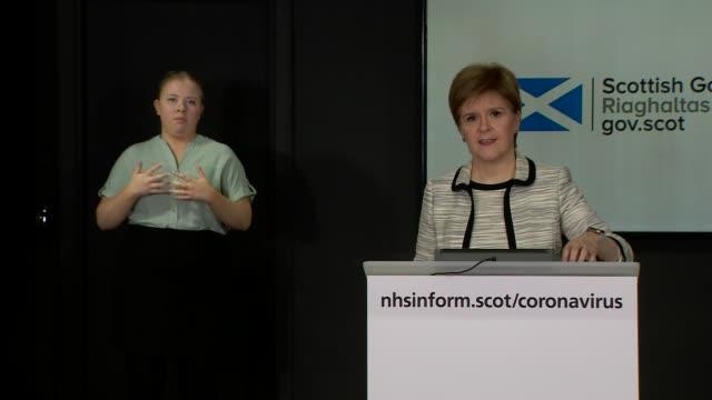 nicola sturgeon press conference april 14th; scotland: edinburgh: st andrew's house: int nicola sturgeon msp statement sot . - in addition, we will... - addition key stock videos & royalty-free footage