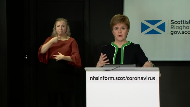 nicola sturgeon press conference april 21st; scotland: edinburgh: int nicola sturgeon msp press conference statement sot part 2 of 3. - the labour... - out of context stock videos & royalty-free footage