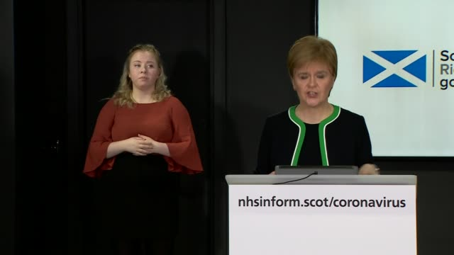 nicola sturgeon press conference april 8th scotland edinburgh st andrew's house int nicola sturgeon msp arriving into press conference / press... - recovery stock videos & royalty-free footage