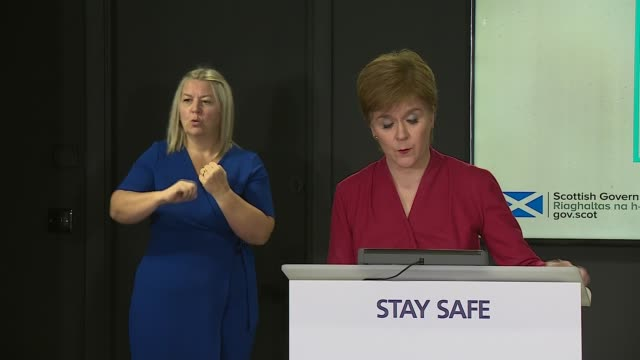 nicola sturgeon press conference august 10th scotland edinburgh st andrew's house int nicola sturgeon msp press conference opening statement sot part... - 2 3 years stock videos & royalty-free footage