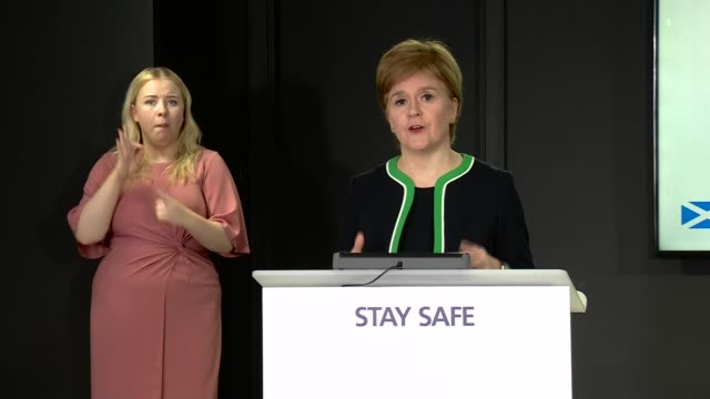 nicola sturgeon press conference august 11th; scotland: edinburgh: st andrew's house: int nicola sturgeon msp press conference opening statement sot.... - 10 11 years stock videos & royalty-free footage