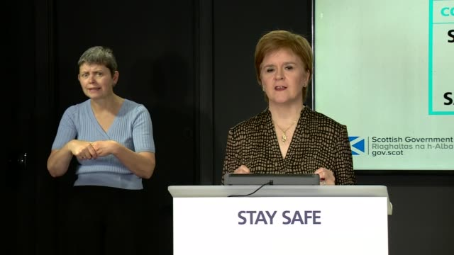 nicola sturgeon press conference august 14th scotland edinburgh st andrew's house int nicola sturgeon msp press conference opening statement sot part... - {{ collectponotification.cta }} stock videos & royalty-free footage