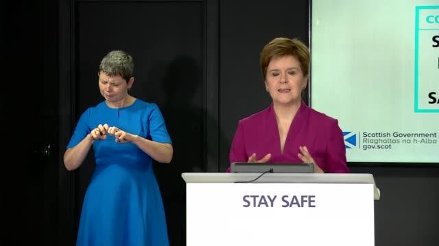 nicola sturgeon press conference august 21st scotland edinburgh int nicola sturgeon msp press conference opening statement sot part 2 of 3 yesterday... - endurance stock videos & royalty-free footage