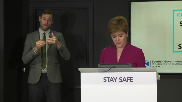 nicola sturgeon press conference august 31st; scotland: edinburgh: st andrew's house: int nicola sturgeon msp press conference opening statement sot... - arms raised stock videos & royalty-free footage